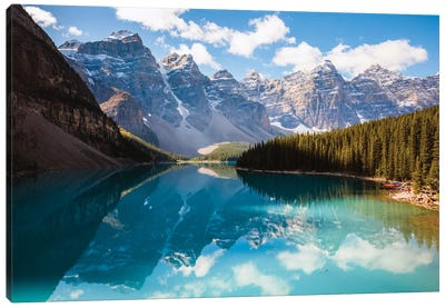 Moraine Lake And The Ten Peaks I Canvas Art Print
