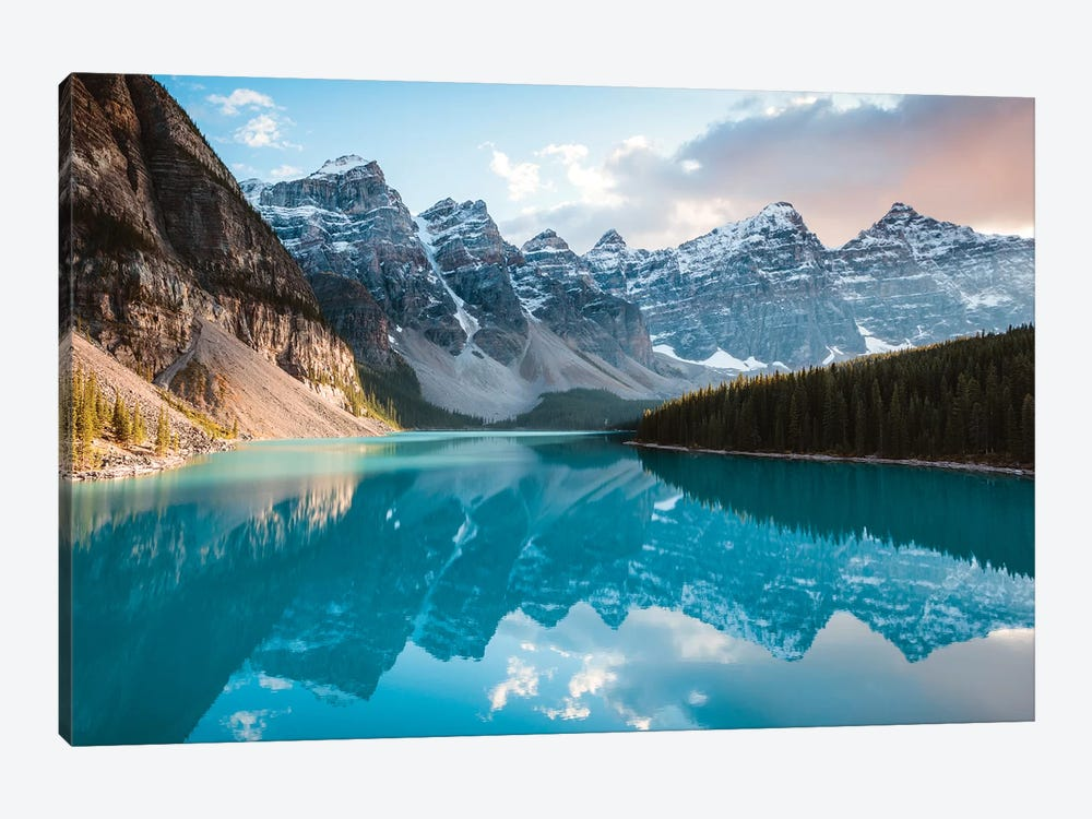 Moraine Lake Panoramic, Canada by Matteo Colombo 1-piece Canvas Artwork
