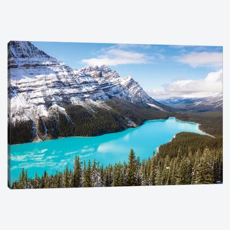Peyto Lake Canvas Print #TEO297} by Matteo Colombo Canvas Art