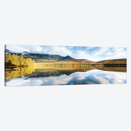 Pyramid Lake Panoramic Canvas Print #TEO298} by Matteo Colombo Canvas Art Print