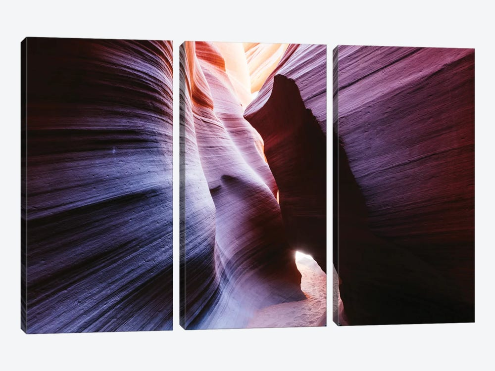 Color Temperature II, The Corkscrew, Antelope Canyon, Navajo Nation, Arizona, USA by Matteo Colombo 3-piece Canvas Art Print