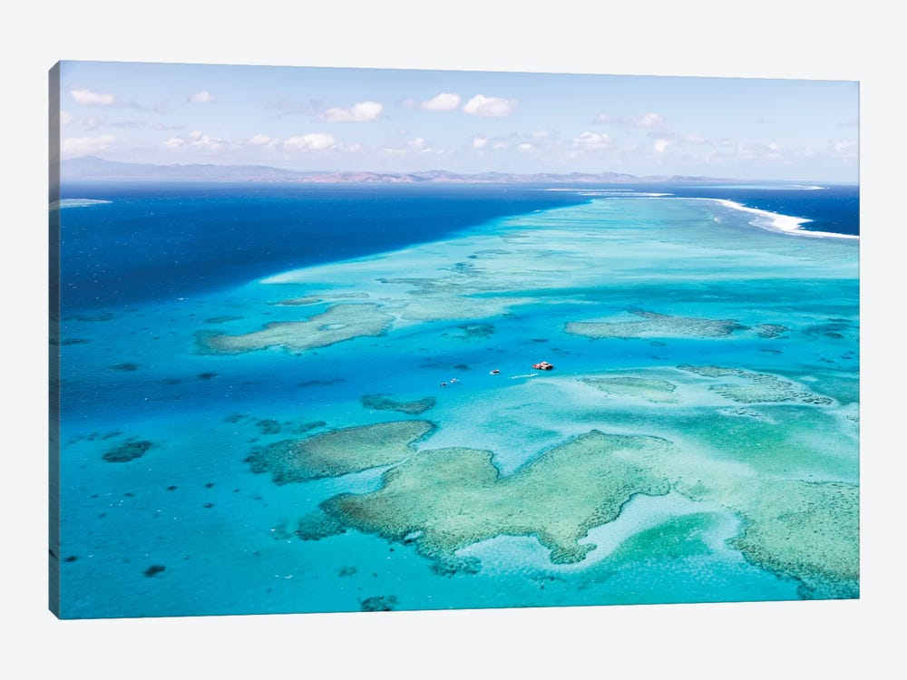 Aerial View Of Cloud 9 Floating Paradise, Malolo Barrier Reef, Republic Of Fiji by Matteo Colombo 1-piece Canvas Art