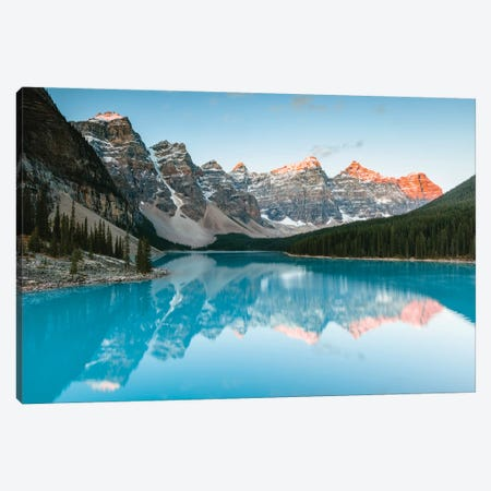 Sunrise At Moraine Lake Canvas Print #TEO300} by Matteo Colombo Canvas Art Print
