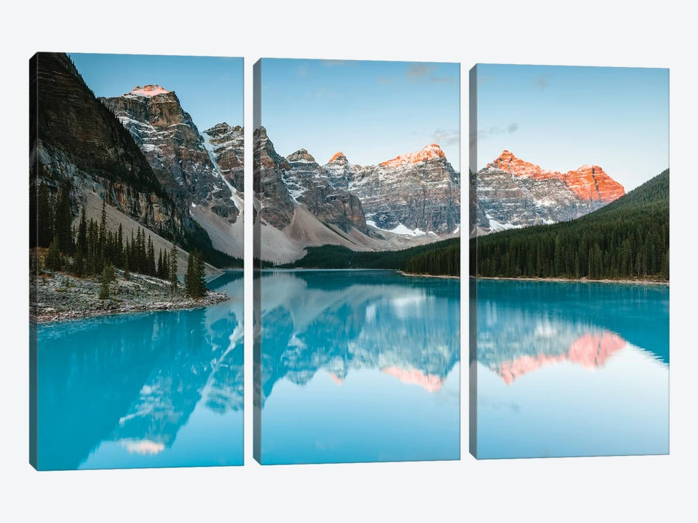 Sunrise At Moraine Lake by Matteo Colombo 3-piece Canvas Artwork