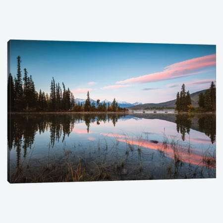 Sunrise At Pyramid Lake Canvas Print #TEO301} by Matteo Colombo Art Print