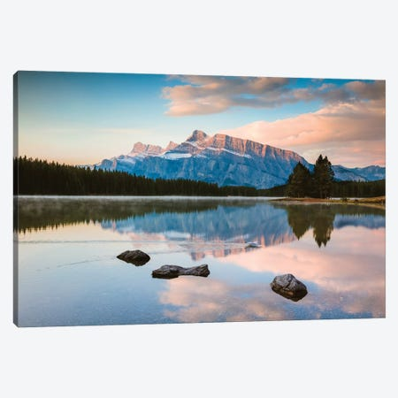 Sunrise At Two Jack Lake Canvas Print #TEO302} by Matteo Colombo Canvas Print