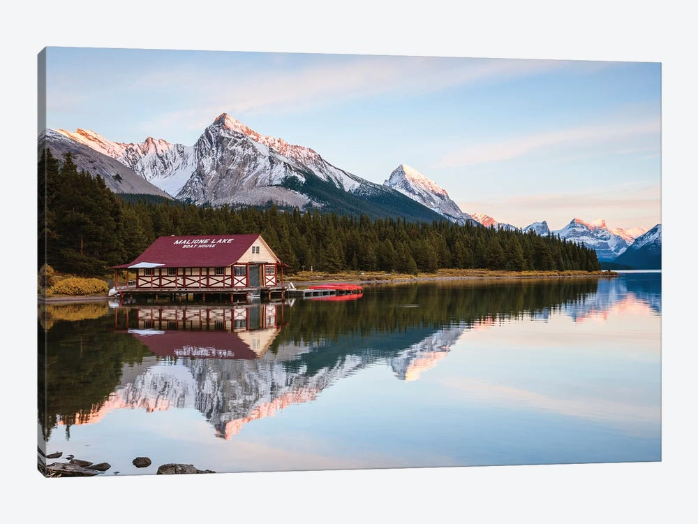 Sunset At Maligne Lake by Matteo Colombo 1-piece Art Print