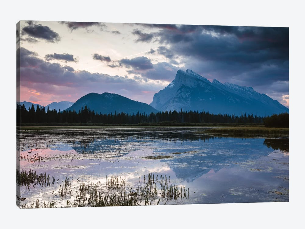 Vermillion Lakes, Banff, Canada by Matteo Colombo 1-piece Canvas Art Print