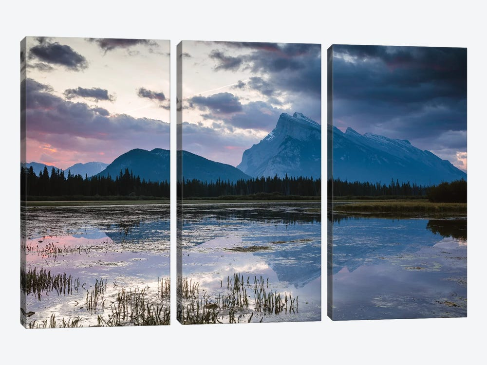Vermillion Lakes, Banff, Canada by Matteo Colombo 3-piece Canvas Art Print