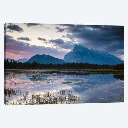 Vermillion Lakes, Banff, Canada Canvas Print #TEO305} by Matteo Colombo Canvas Art