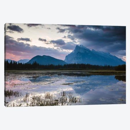 Vermillion Lakes, Banff, Canada Canvas Print #TEO305} by Matteo Colombo Canvas Art