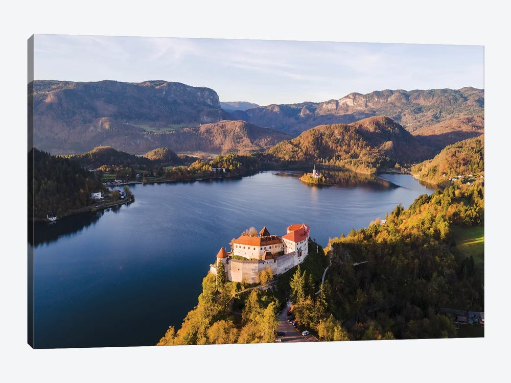 Bled Castle And Lake, Slovenia by Matteo Colombo 1-piece Canvas Art Print