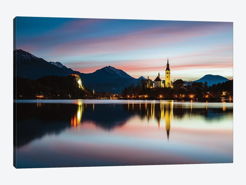 Bled Lake Sunrise, Slovenia by Matteo Colombo 1-piece Canvas Wall Art