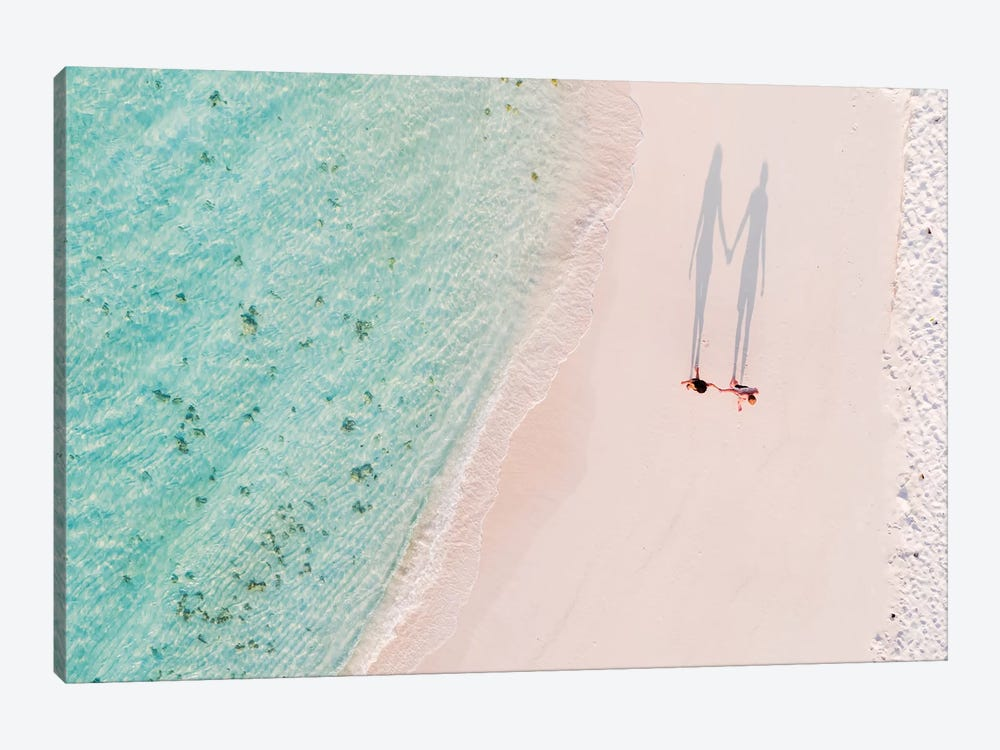 Hand In Hand On The Beach, Maldives by Matteo Colombo 1-piece Canvas Art