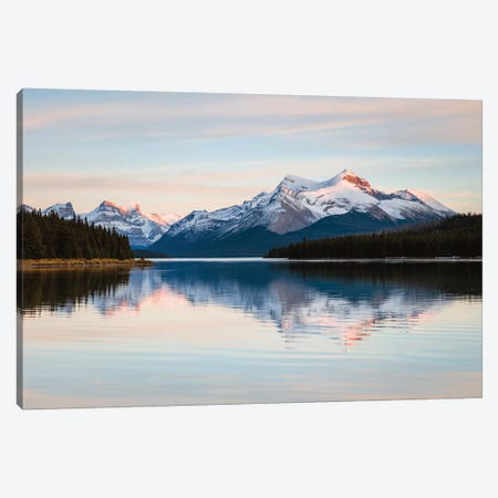 Maligne Lake Sunset, Jasper National Park, Canada Canvas Print #TEO315} by Matteo Colombo Art Print