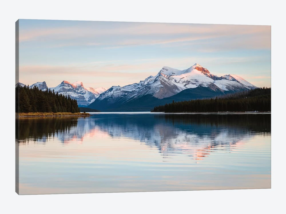 Maligne Lake Sunset, Jasper National Park, Canada 1-piece Canvas Artwork