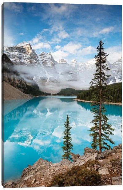 Moraine Lake In Autumn, Banff, Canada Canvas Art Print