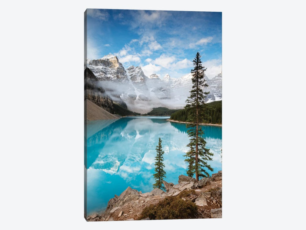 Moraine Lake In Autumn, Banff, Canada by Matteo Colombo 1-piece Canvas Wall Art