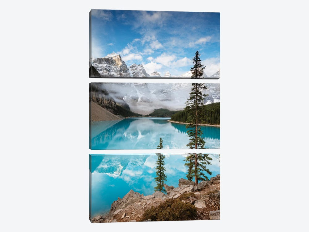 Moraine Lake In Autumn, Banff, Canada by Matteo Colombo 3-piece Canvas Artwork