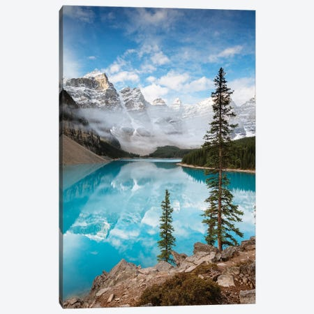 Moraine Lake In Autumn, Banff, Canada 3-Piece Canvas #TEO317} by Matteo Colombo Canvas Print