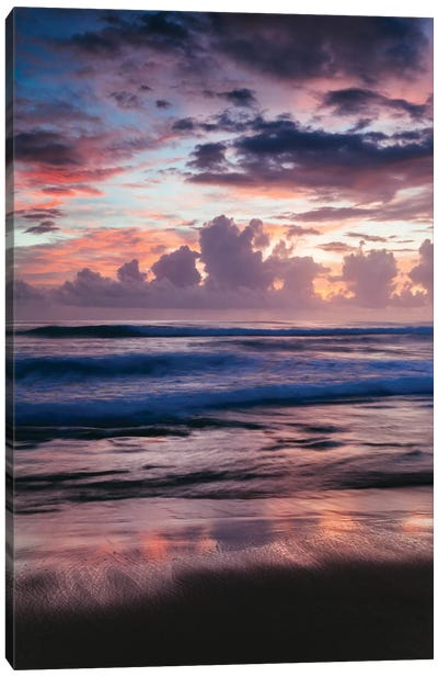 Colorful Sunset On The Caribbean Sea Canvas Art Print