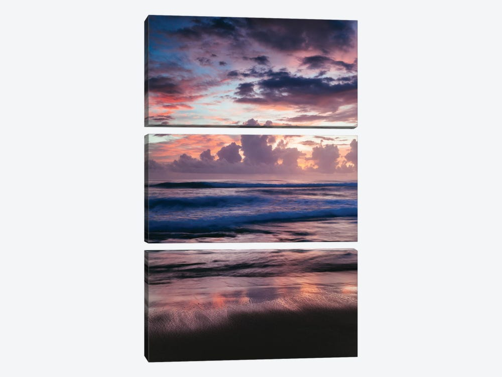 Colorful Sunset On The Caribbean Sea by Matteo Colombo 3-piece Canvas Artwork
