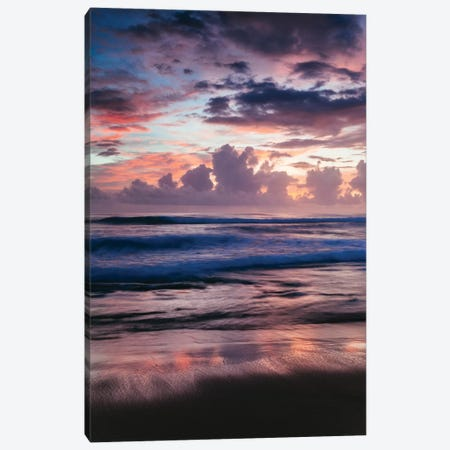 Colorful Sunset On The Caribbean Sea 3-Piece Canvas #TEO31} by Matteo Colombo Art Print