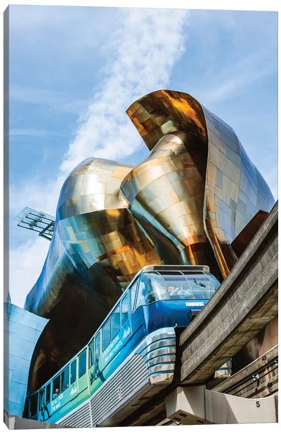 Seattle Center Monorail, Seattle, USA Canvas Art Print