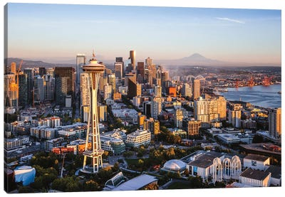 Space Needle And Skyline, Seattle Canvas Art Print