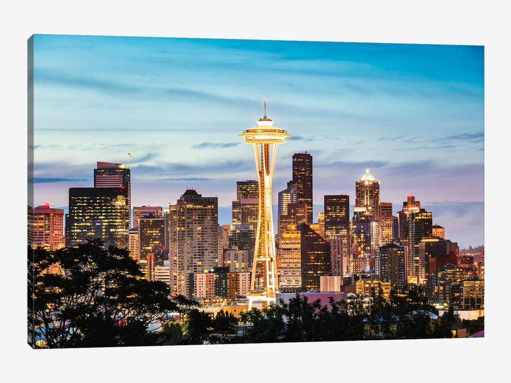 The Space Needle And Skyline At Dawn, Seattle, USA II by Matteo Colombo 1-piece Art Print