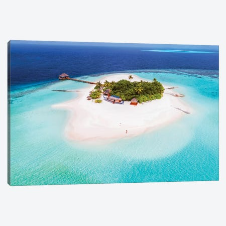 Tropical Island In The Maldives Canvas Print #TEO328} by Matteo Colombo Canvas Art Print