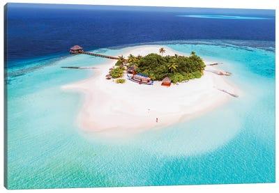 Tropical Island In The Maldives Canvas Art Print