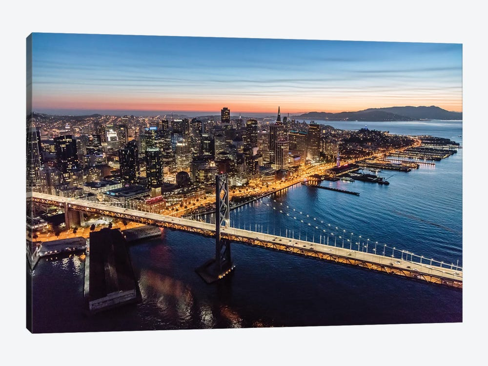 Aerial Of Downtown San Francisco At Dusk by Matteo Colombo 1-piece Canvas Artwork
