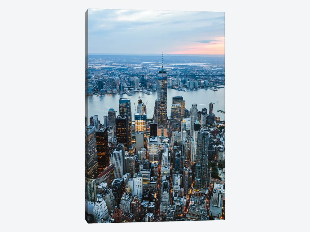 Aerial Of Manhattan At Sunset, New York by Matteo Colombo 1-piece Canvas Print