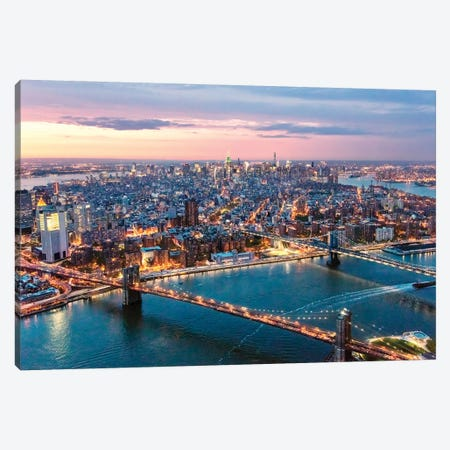 Aerial Of Midtown Manhattan Canvas Print #TEO335} by Matteo Colombo Art Print