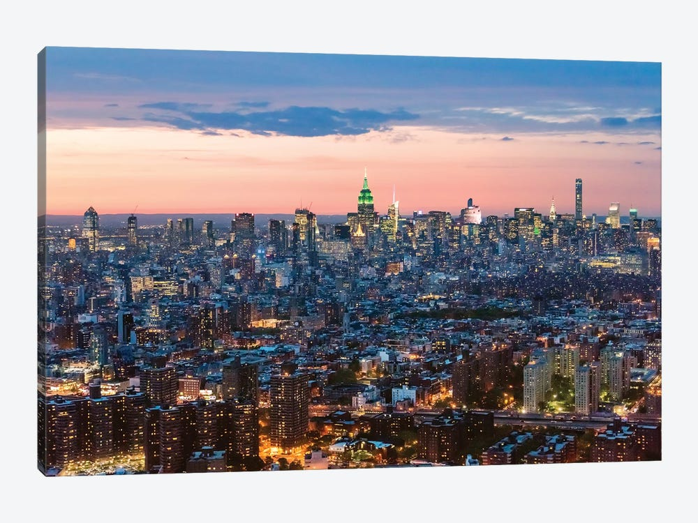 Aerial Of Midtown Manhattan At Dusk by Matteo Colombo 1-piece Art Print