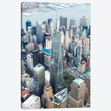 Aerial Of One World Trade Center, New York Canvas Print #TEO337} by Matteo Colombo Canvas Art Print