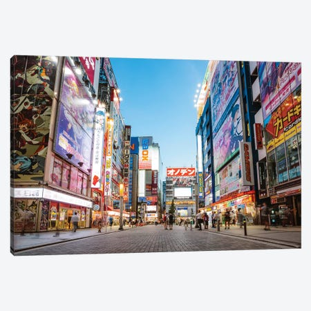 Akihabara Electric Town, Tokyo, Japan Canvas Print #TEO341} by Matteo Colombo Canvas Art Print
