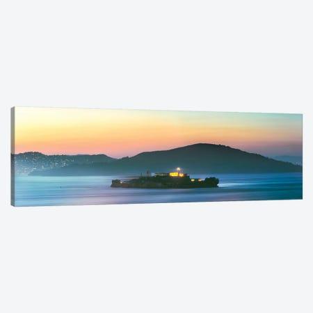 Alcatraz Island Panorama Canvas Print #TEO342} by Matteo Colombo Canvas Art Print