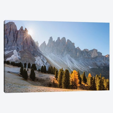 Alpine Peaks In Autumn, Italy Canvas Print #TEO343} by Matteo Colombo Art Print