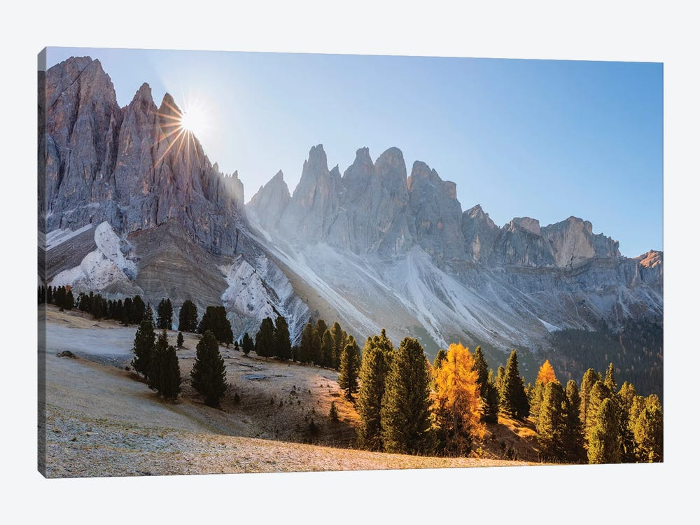 Alpine Peaks In Autumn, Italy by Matteo Colombo 1-piece Canvas Print