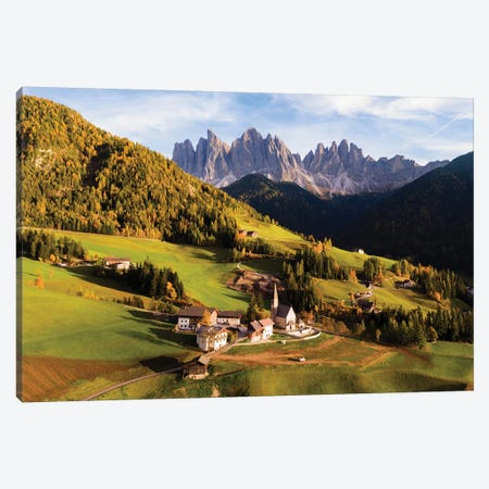 Autumn In The Dolomites, Italy Canvas Print #TEO348} by Matteo Colombo Canvas Art Print