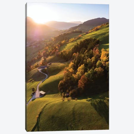 Autumal Sunset, Dolomites, Italy Canvas Print #TEO349} by Matteo Colombo Canvas Print