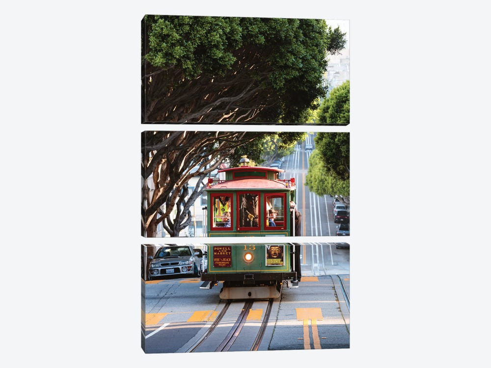 Cable Car, San Francisco by Matteo Colombo 3-piece Canvas Wall Art