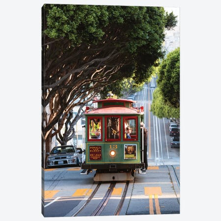 Cable Car, San Francisco Canvas Print #TEO353} by Matteo Colombo Canvas Wall Art