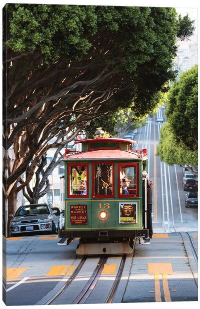 Cable Car, San Francisco Canvas Art Print