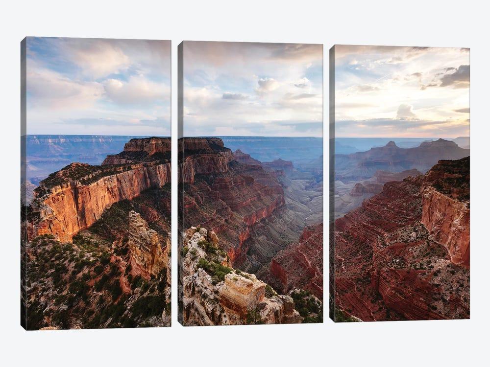 Cape Royal Sunset, Grand Canyon by Matteo Colombo 3-piece Canvas Art Print