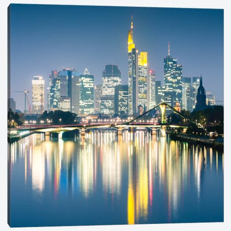 Downtown Skyline, Frankfurt, Hesse, Germany Canvas Print #TEO35} by Matteo Colombo Canvas Wall Art