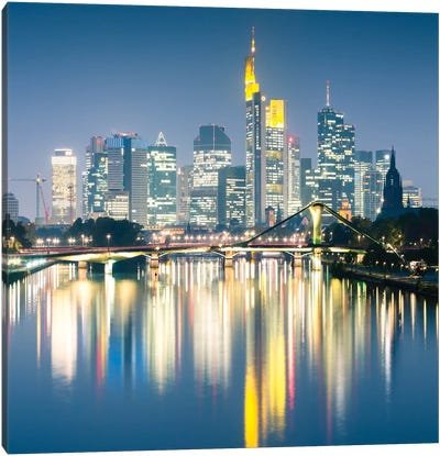 Downtown Skyline, Frankfurt, Hesse, Germany Canvas Art Print
