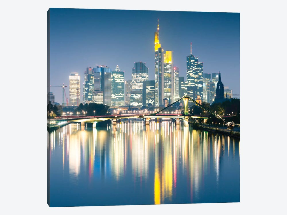 Downtown Skyline, Frankfurt, Hesse, Germany by Matteo Colombo 1-piece Canvas Art